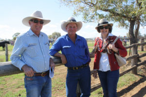 Steve and Esmae Taylor, Chinchilla, with Adrian Forrest, Augathella (centre).