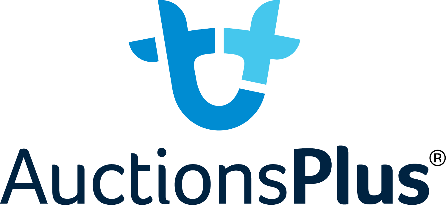 Auctions Plus Logo ® Stacked